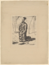 Max Beckmann, Cristo nel deserto (grande figura) | Christus in der Wüste (grosse Figur) | Christ in the Desert (large figure)
