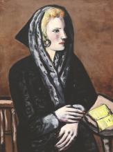 Max Beckmann, Dama con cappuccio grigio   Dame mit grauem Capuchon   Lady in gray cap