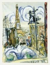 Max Beckmann, Demolizione del padiglione russo all'esposizione mondiale di Parigi | Abbruch des russischen Pavillons auf der Weltausstellung in Paris