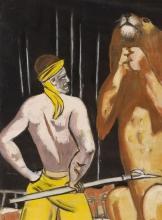 Max Beckmann, Domatore di leoni (Circo) [dettaglio] | Löwenbändiger (Zirkus) [Detail]