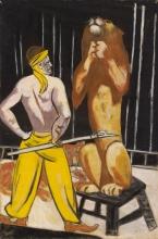 Max Beckmann, Domatore di leoni (Circo) | Löwenbändiger (Zirkus)