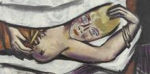 Max Beckmann, Donna a letto | Frau im Bett | Woman in bed