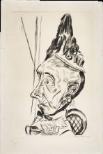 Max Beckmann, Donna anziana con cappello capote | Alte Frau mit Kapotthut