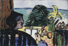 Max Beckmann, Donna che legge in spiaggia   Woman reading at the beach