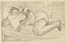 Max Beckmann, Donna che legge | Lesende Frau