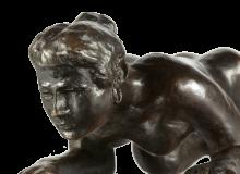 Max Beckmann, Donna che striscia [dettaglio] | Kriechende Frau [Detail]