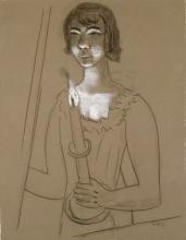 Max Beckmann, Donna con candela (Quappi) | Frau mit Kerze (Quappi) | Woman with candle (Quappi) [1928]