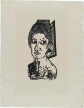 Max Beckmann, Donna con candela | Frau mit Kerze | Woman with a candle [1920]