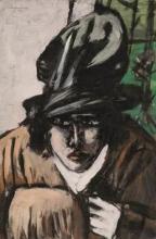 Max Beckmann, Donna con cappello e manicotto