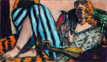 Max Beckmann, Donna con gallo rosso | Frau mit rotem Hahn | Woman with a red rooster