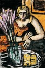 Max Beckmann, Donna con gatto | Frau mit Katze | Woman with cat