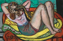 Max Beckmann, Donna con mandolino in giallo e rosso | Frau mit Mandoline in Gelb und Rot