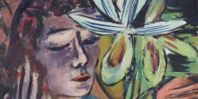 Max Beckmann, Donna con orchidea [dettaglio] | Frau mit Orchidee [Detail] | Woman with orchid [detail]