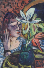 Max Beckmann, Donna con orchidea | Frau mit Orchidee | Woman with orchid