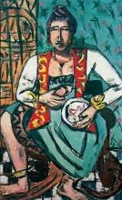 Max Beckmann, Donna con serpente (Incantatrice di serpenti) | Frau mit Schlange (Schlangenbeschwörerin) | Woman with snake (Snake charmer)
