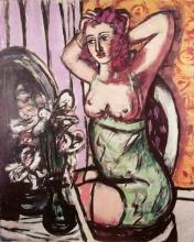 Max Beckmann, Donna con specchio e orchidee   Frau mit Spiegel und Orchideen   Woman with mirror and orchids