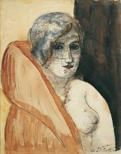 Max Beckmann, Donna in pelliccia | Frau im Pelz