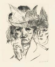 Max Beckmann, Donna piangente | Weinende Frau  (Minna Tube-Römpler)