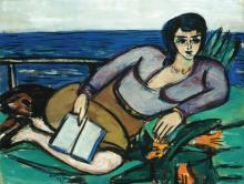 Max Beckmann, Donna sdraiata in riva al mare | Liegende Frau am Meer