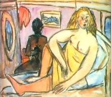 Max Beckmann, Donna sdraiata   Liegende Frau