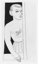 Max Beckmann, Donna, seminuda alla finestra | Woman, half-nude at the window