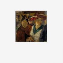Max Beckmann, Doppio ritratto. Gente per strada | Doppelbild. Menschen auf der Straße