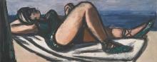 Max Beckmann, Dormiente sulla spiaggia   Schlafende am Strand