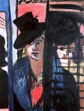 Max Beckmann, Due donne (in una porta vetrata)   Zwei Frauen (in Glastür)   Two women (in a glass door)