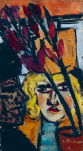 Max Beckmann, Due donne con fiore | Zwei Frauen mit Blume | Two women with flower