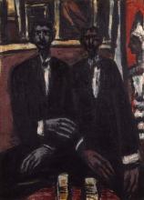 Max Beckmann, Due uomini neri in un cabaret | Two black men in a cabaret