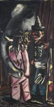 Max Beckmann, Elefante e clown nella stanza | Elefant und Clown im Stall | Elephant and clown in the stable