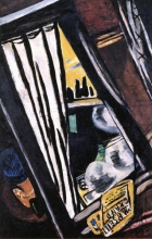 Max Beckmann, Freccia d'oro: vista dal finestrino del treno D | Golden Arrow: Blick aus dem D-Zug-Fenster