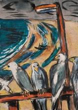 Max Beckmann, Gabbiani nella tempesta | Möwen im sturm | Seagulls in the storm
