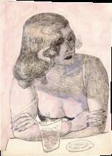 Max Beckmann, Giovane donna con bicchiere | Junge Frau mit Glas