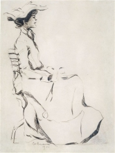 Max Beckmann, Giovane signora | Junge Dame