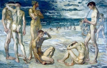 Max Beckmann, Giovani uomini in riva al mare | Junge Männer am Meer | Young men by the sea [1905]