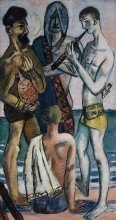Max Beckmann, Giovani uomini in riva al mare | Junge Männer am Meer | Young men by the sea [1943]