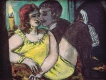 Max Beckmann, Gli amanti (verde e giallo) | Liebespaar