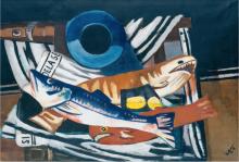 Max Beckmann, Grande natura morta con pesci | Großes Fisch-Stillleben