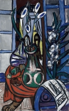 Max Beckmann, Grande natura morta in interno (Blu) | Large still-life interior (Blue)
