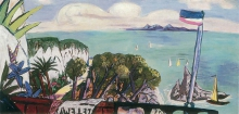 Max Beckmann, Grande paesaggio della Riviera | Große Riviera landschaft | Large Riviera landscape
