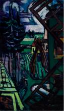 Max Beckmann, Grande paesaggio di Laren con mulino a vento | Große Landschaft aus Laren mit Windmühle | Large Laren landscape with windmill