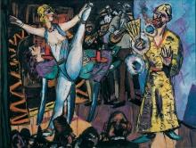 Max Beckmann, Grande varietà con mago e ballerina | Großes Varieté mit Zauberer und Tänzerin | Large variety show with magician and dancer