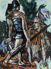 Max Beckmann, Guerriero e donna-uccello | Krieger und Vogelfrau | Warrior and bird-woman