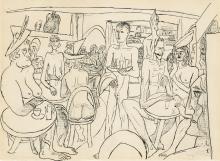 Max Beckmann, Il Caffè nudo | Das Entkleidete Café