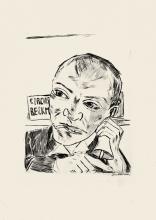 Max Beckmann, Il banditore (Autoritratto)   Der Ausrufer (Selbstbildnis)   The barker (Self-portrait)