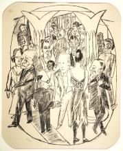 Max Beckmann, Il foyer del teatro | Das Theaterfoyer | Figures in the theater foyer