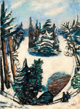 Max Beckmann, Il lago in inverno | Le Lac im Winter | The lake in winter
