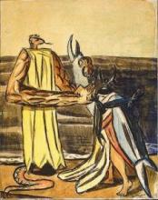 Max Beckmann, Il re serpente e la regina degli scarabei   Schlauenkönig und Hirschkäferbraut   The snake king and the stagbeetle queen