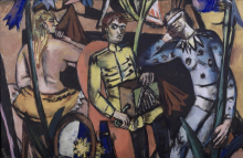 Max Beckmann, Il suonatore di organetto [dettaglio] | Der Leiermann [Detail]